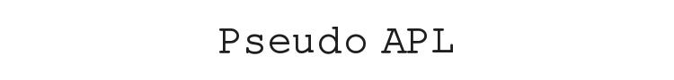 Pseudo APL Font Preview