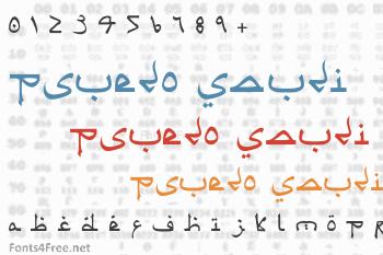 Psuedo Saudi Font