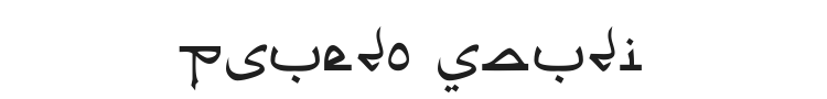 Psuedo Saudi Font Preview