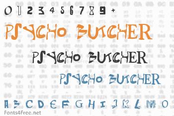 Psycho Butcher Font