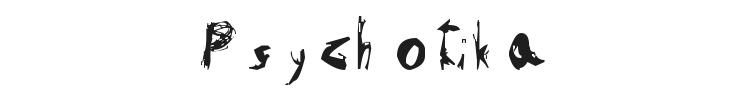 Psychotika Font Preview