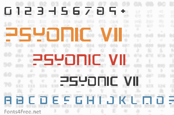 PsYonic VII Font