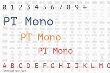 PT Mono Font