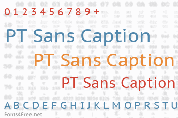 PT Sans Caption Font