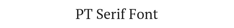 PT Serif Font Preview