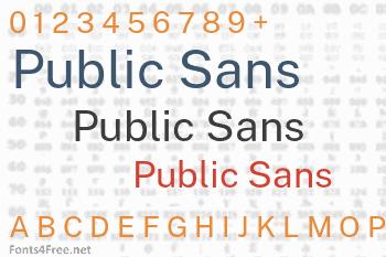 Public Sans Font