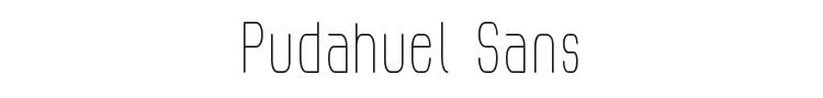 Pudahuel Sans Font Preview