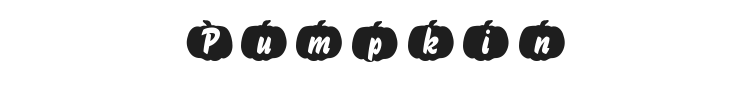 Pumpkin Font Preview
