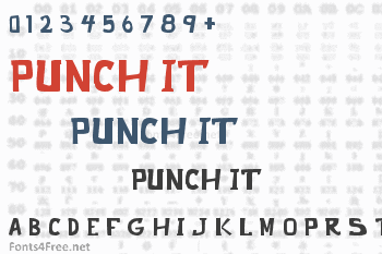 Punch It Font