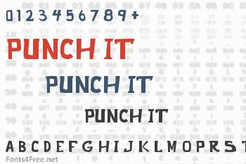Punch It Font