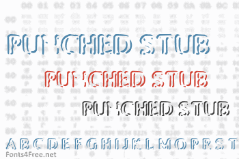 Punched Stub Font