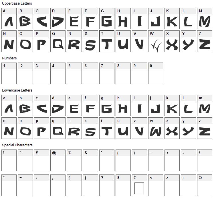 Pundit Font Character Map