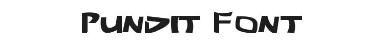 Pundit Font Preview