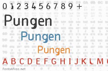 Pungen Font