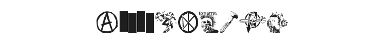Punk Dingbats Font Preview