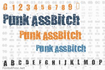 PunkAssBitch Font