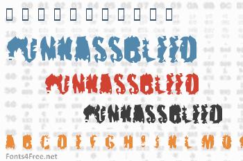 PunkAssBleed Font