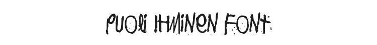 Puoli Ihminen Font Preview