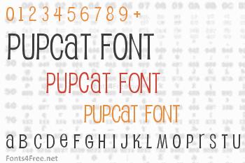 Pupcat Font