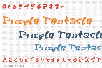 Purple Tentacle Font