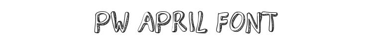 PW April Font Preview
