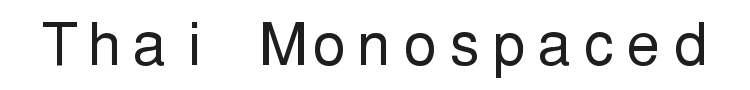 PW Thai Monospaced EG Font Preview