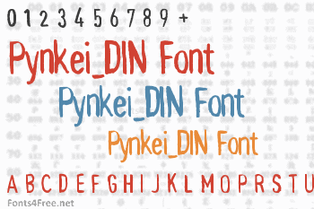 Pynkei_DIN Font