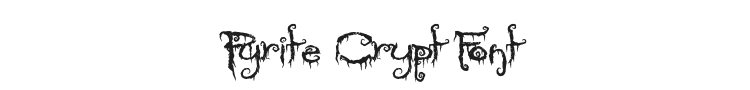 Pyrite Crypt Font Preview