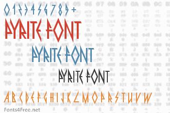 Pyrite Font