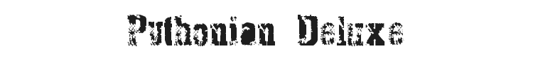 Pythonian Deluxe Font Preview