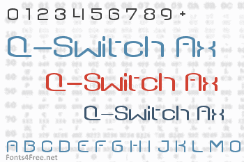 Q-Switch Ax Font