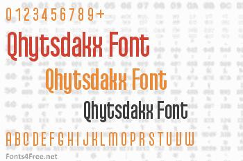 Qhytsdakx Font