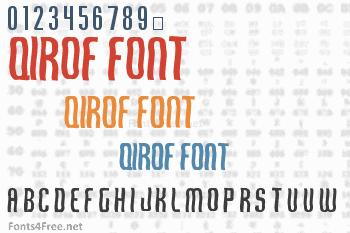 Qirof Font