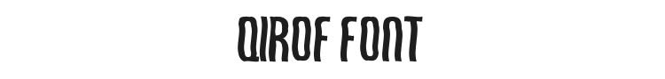 Qirof Font Preview