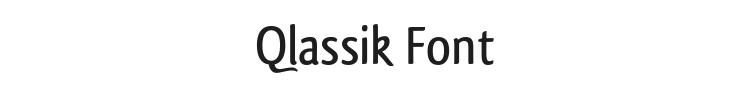 Qlassik Font Preview