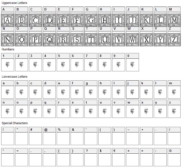 Qua Nauticale Font Character Map