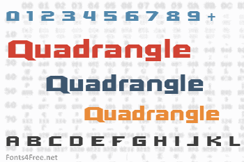 Quadrangle Font