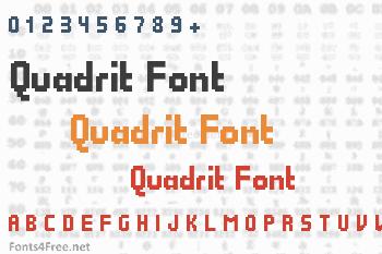 Quadrit Font