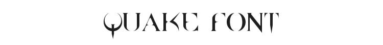 Quake Font Preview