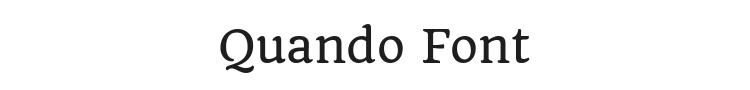 Quando Font Preview