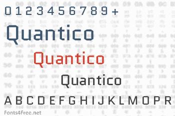 Quantico Font