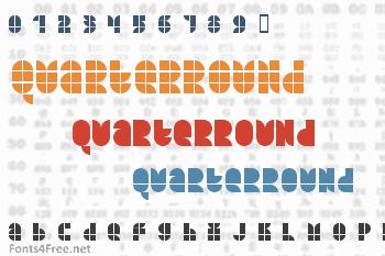 Quarterround Font