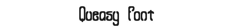Queasy Font