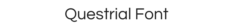 Questrial Font Preview