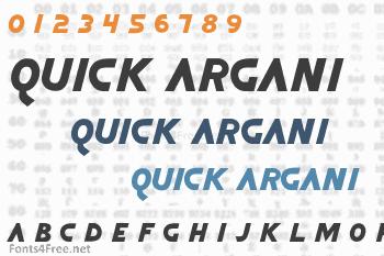 Quick Argani Font