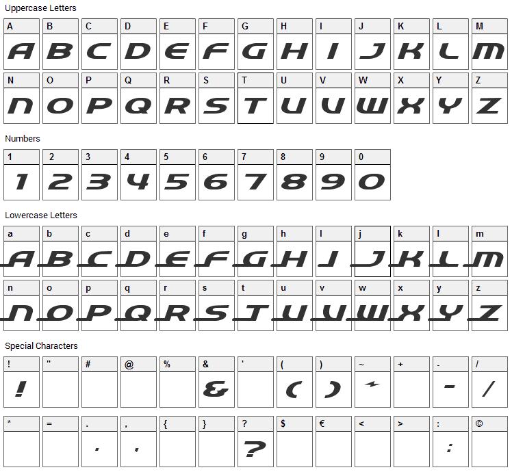 Quick Express Font Character Map