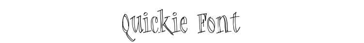 Quickie Font