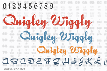 Quigley Wiggly Font