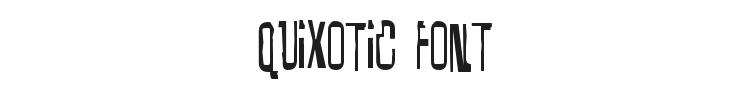 Quixotic Font Preview