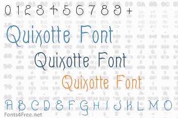 Quixotte Font